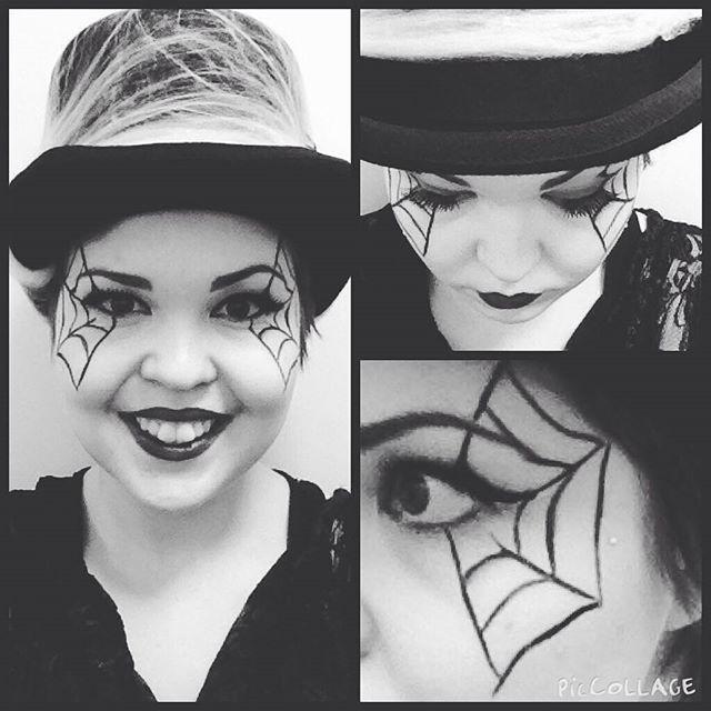 Tämän päivän look! #spiderwebmakeup #halloween #spiderweb #cybershopmatkus #halloweenmask