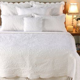 Matelasse White Bedding Collection By Amity Home Bedding