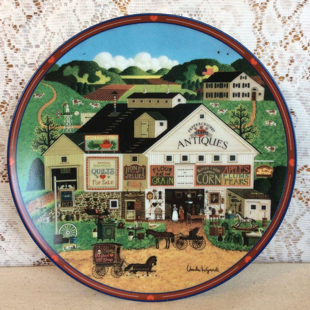 Small Talk At Birkie/'s Perch Plate Charles Wysocki Hometown Memories