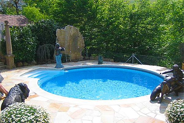 Small Round Inground Pool | small pools | Pinterest | Rounding, Backyard  and Small pools