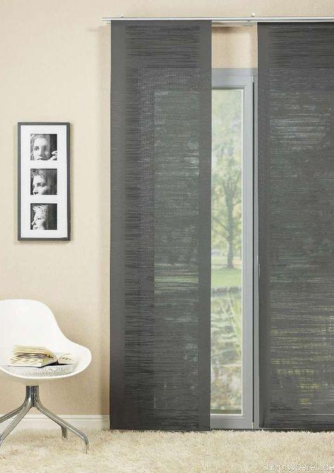 details zu fl chenvorhang mito 842101 97 grau inkl. Black Bedroom Furniture Sets. Home Design Ideas