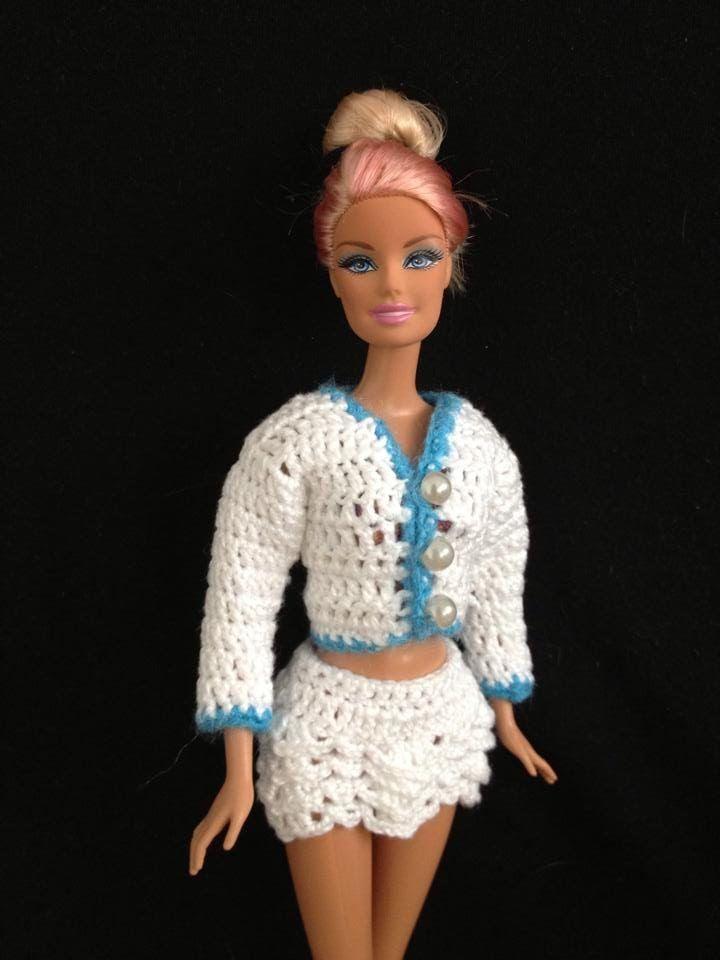 Croche Saia De Babado Liiart Barbie Pinterest Crochet