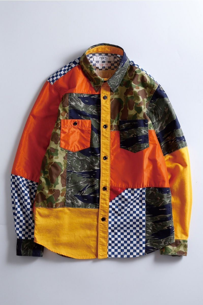 FDTML patchwork shirt Shirts, Long johns, Mens shirts
