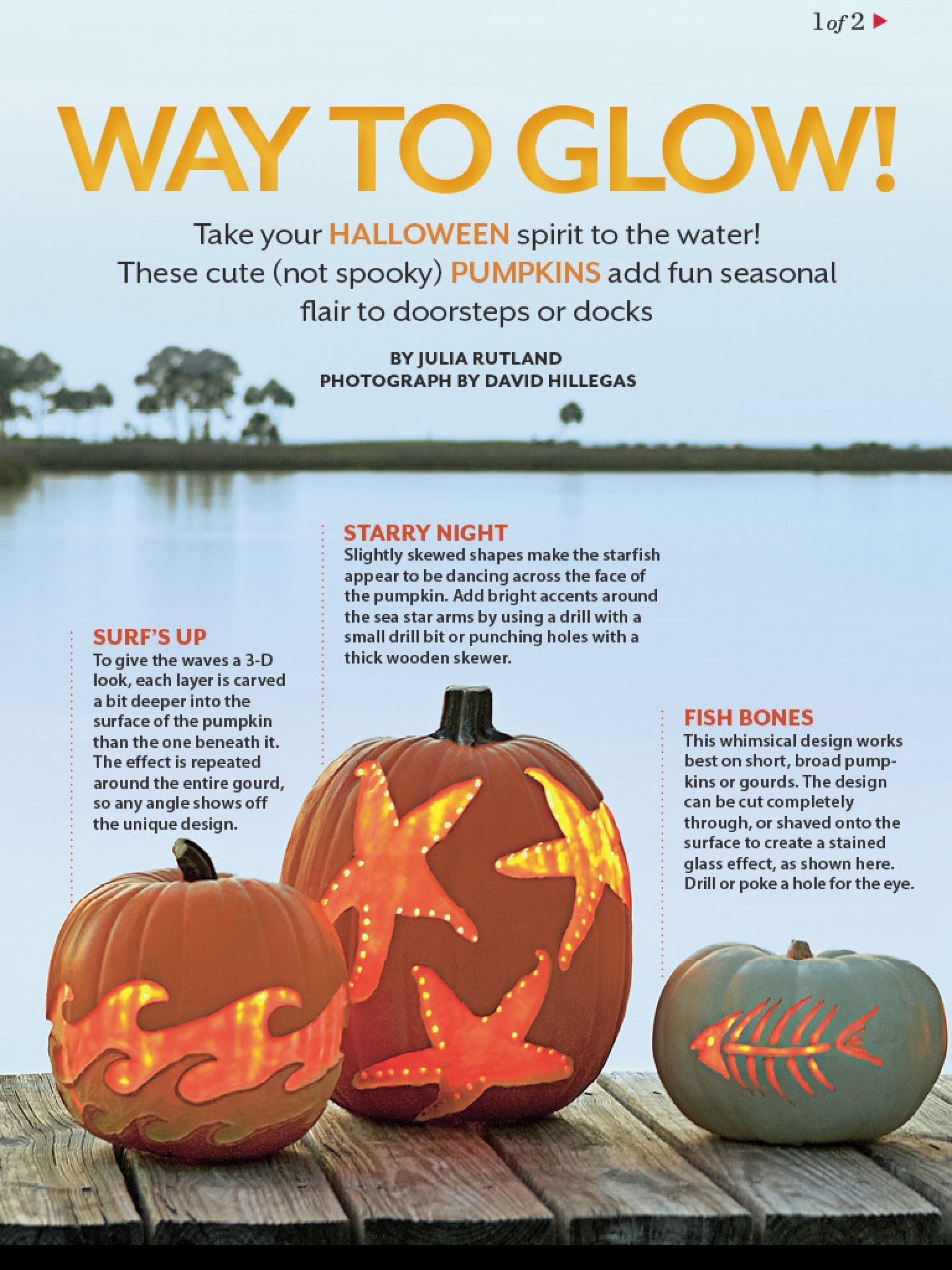 Nautical Pumpkins Fall Hatteras Style Halloween Decorations