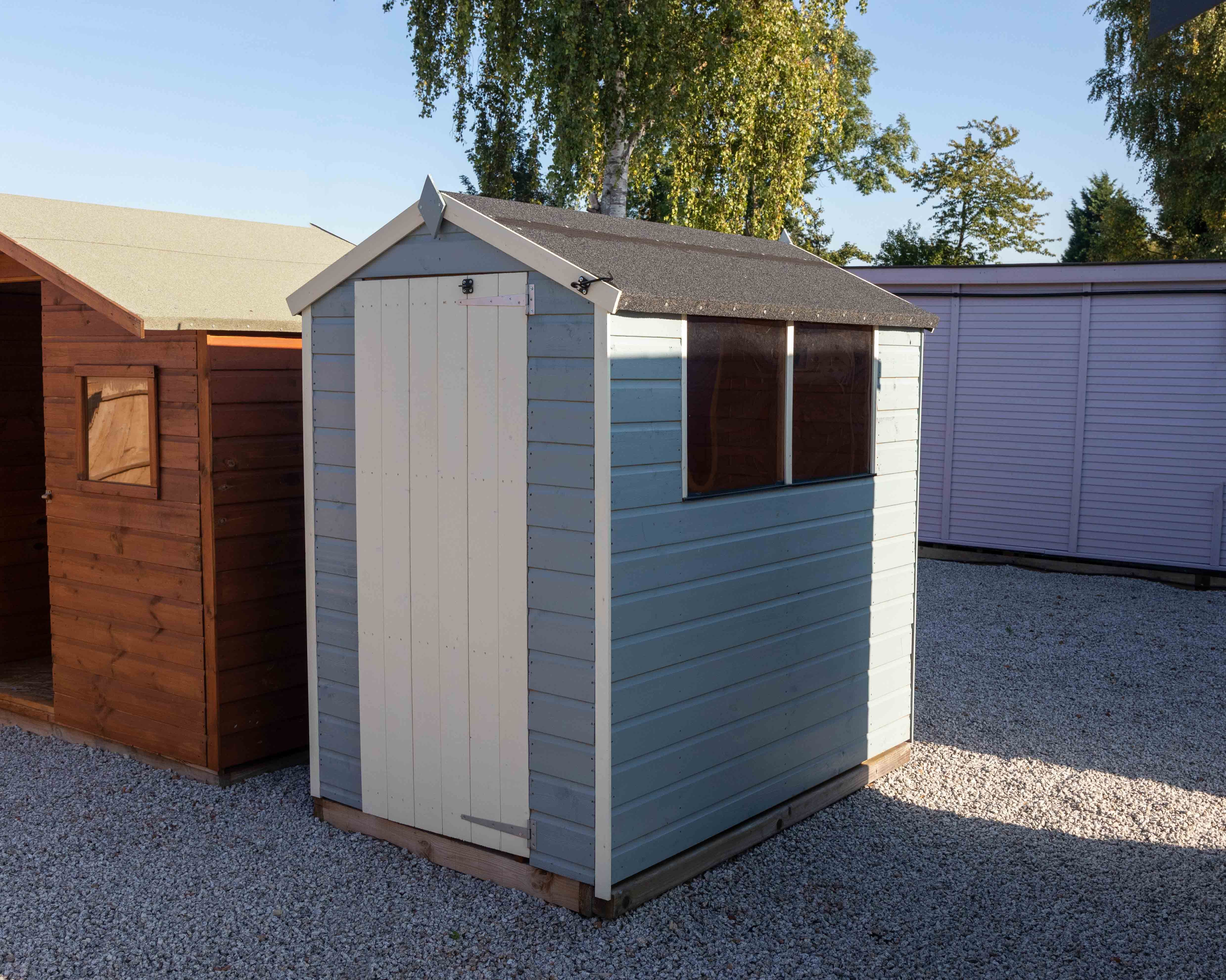Waltons 6 X 4 Pressure Treated Shiplap Single Door Apex Windowless Wooden Shed Shed Wooden Sheds Single Doors