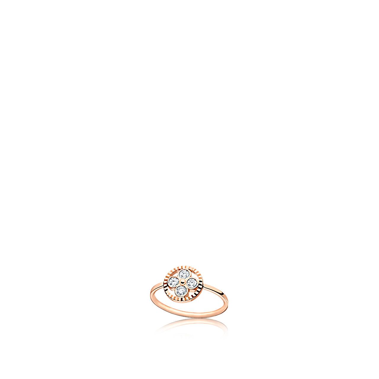 Diamond blossom bb ring pink gold and diamonds fine jewelry