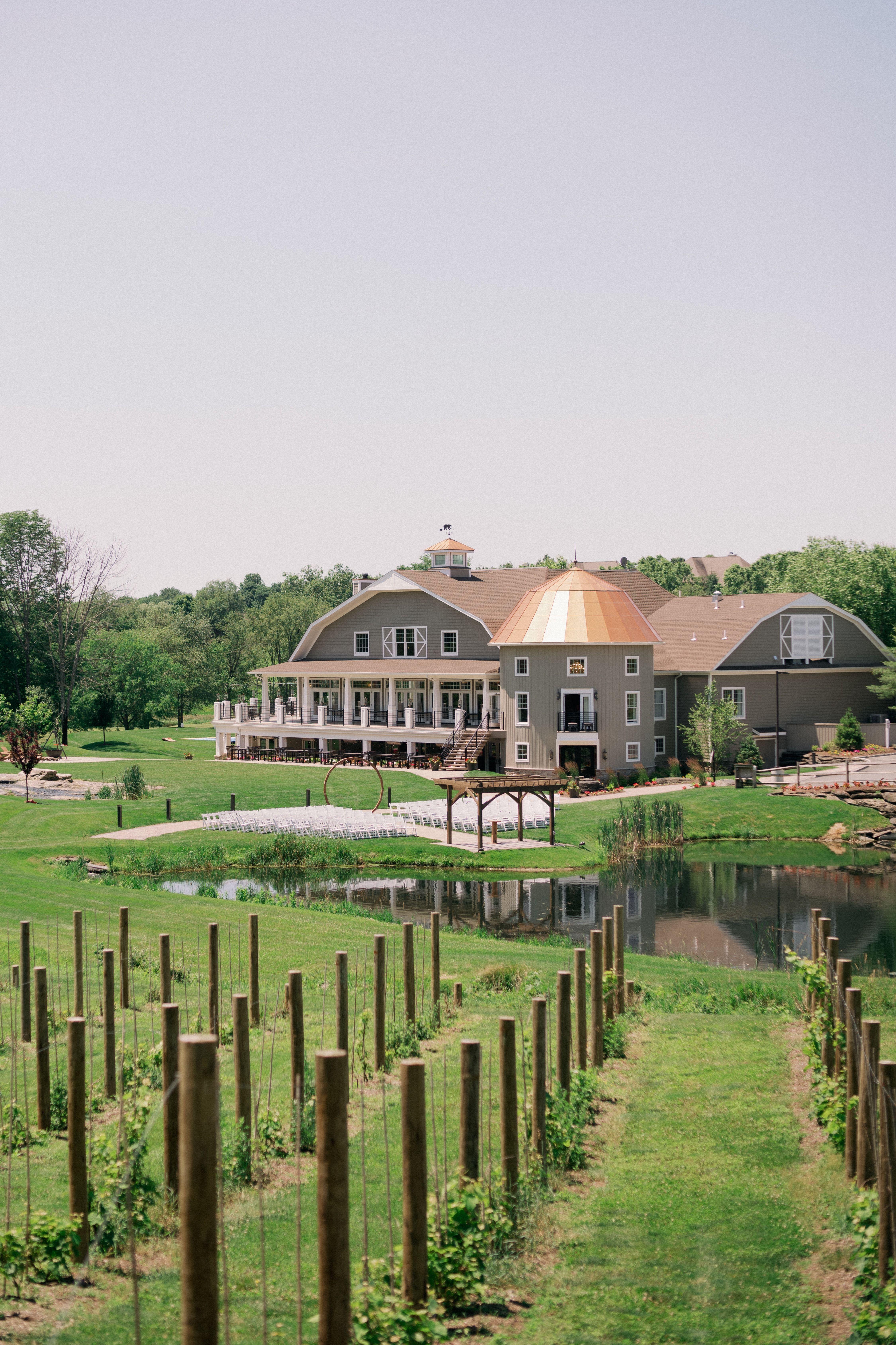 Rustic wedding venue in NJ with rolling hills, a vineyard ...