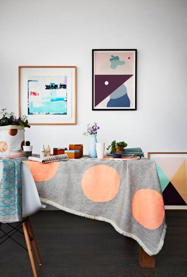 Déco salle à manger  12 idées pour apporter de la couleur Salons