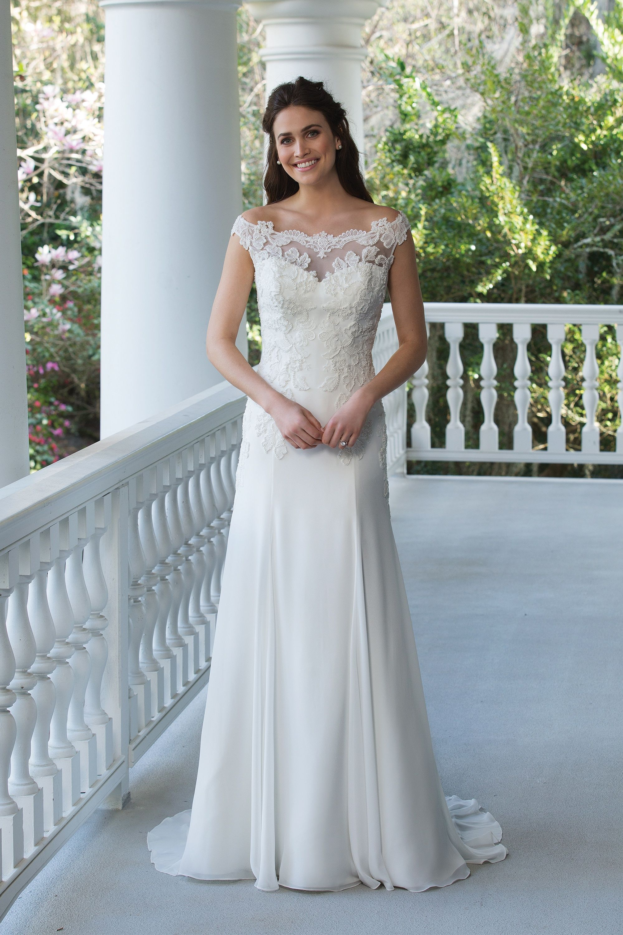 Stella York #6365 - This off the shoulder lace back wedding dress ...