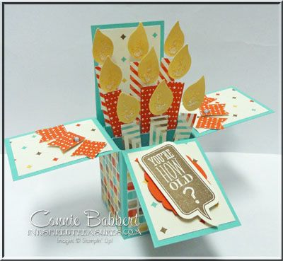 Birthday candle box card box birthdays and retro birthday candle box card bookmarktalkfo Choice Image