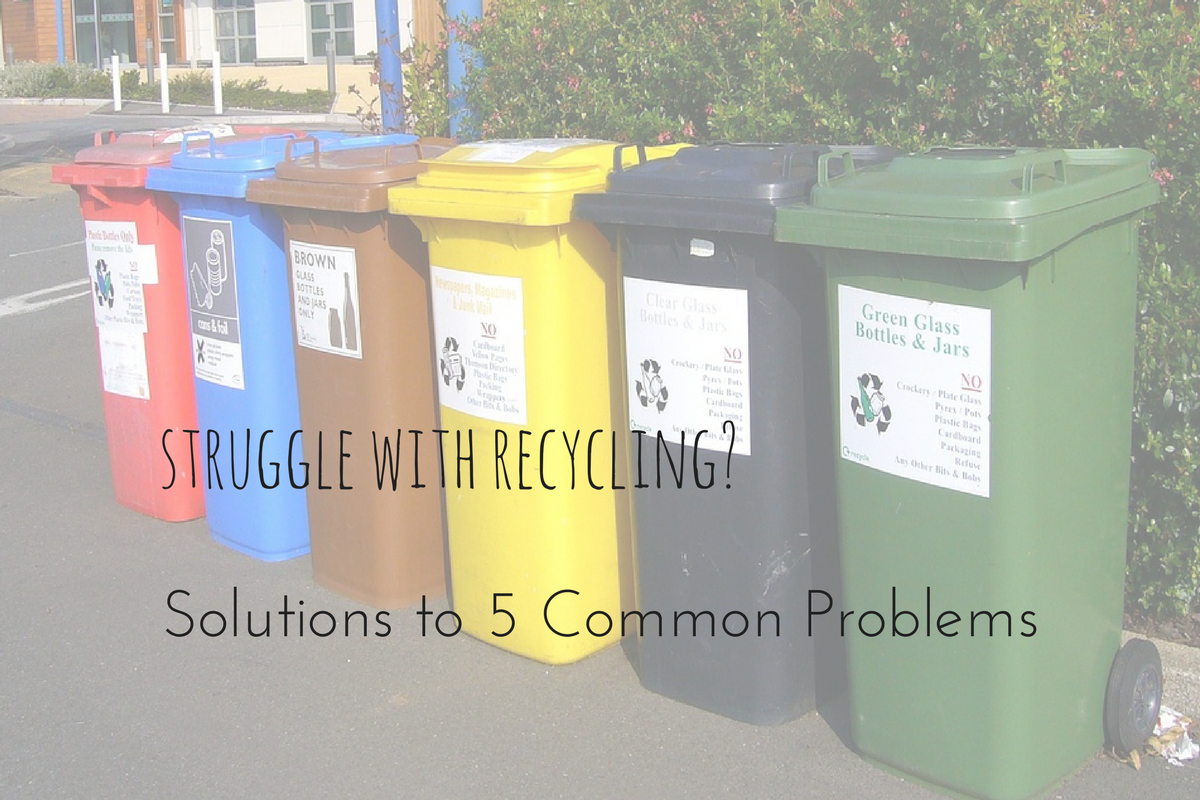 Struggle With Recycling Finding Our Green Life Recycling Recycling Bins Green Glass Bottles