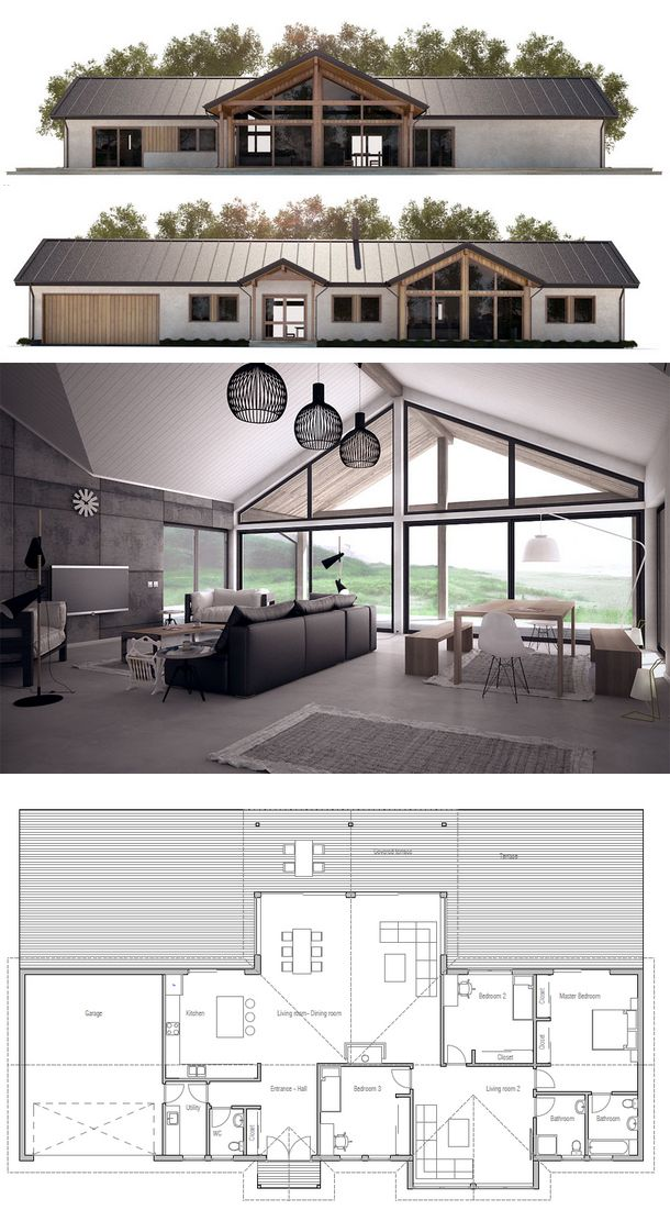 Modern House Ch295 Container House Plans Building A Container Home Barn House Plans
