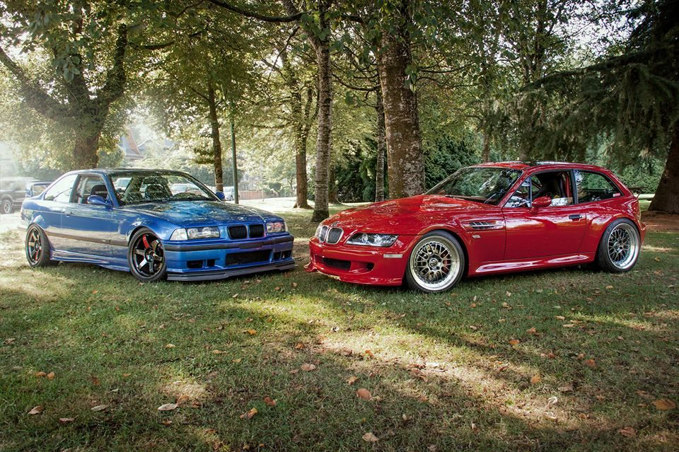 Bmw E36 M3 Blue Amp Z3 M Coupe Red Bmw Ultimate Driving