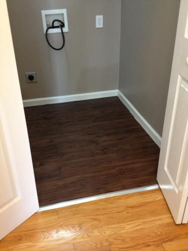 Vinyl Plank Master Bathroom: TrafficMASTER Dark Walnut 6 In. X 36 In. Luxury Vinyl
