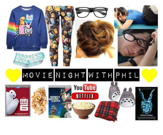 """""""movie night with phil"""" by kacileim on Polyvore featuring Free Press and Simmons"""