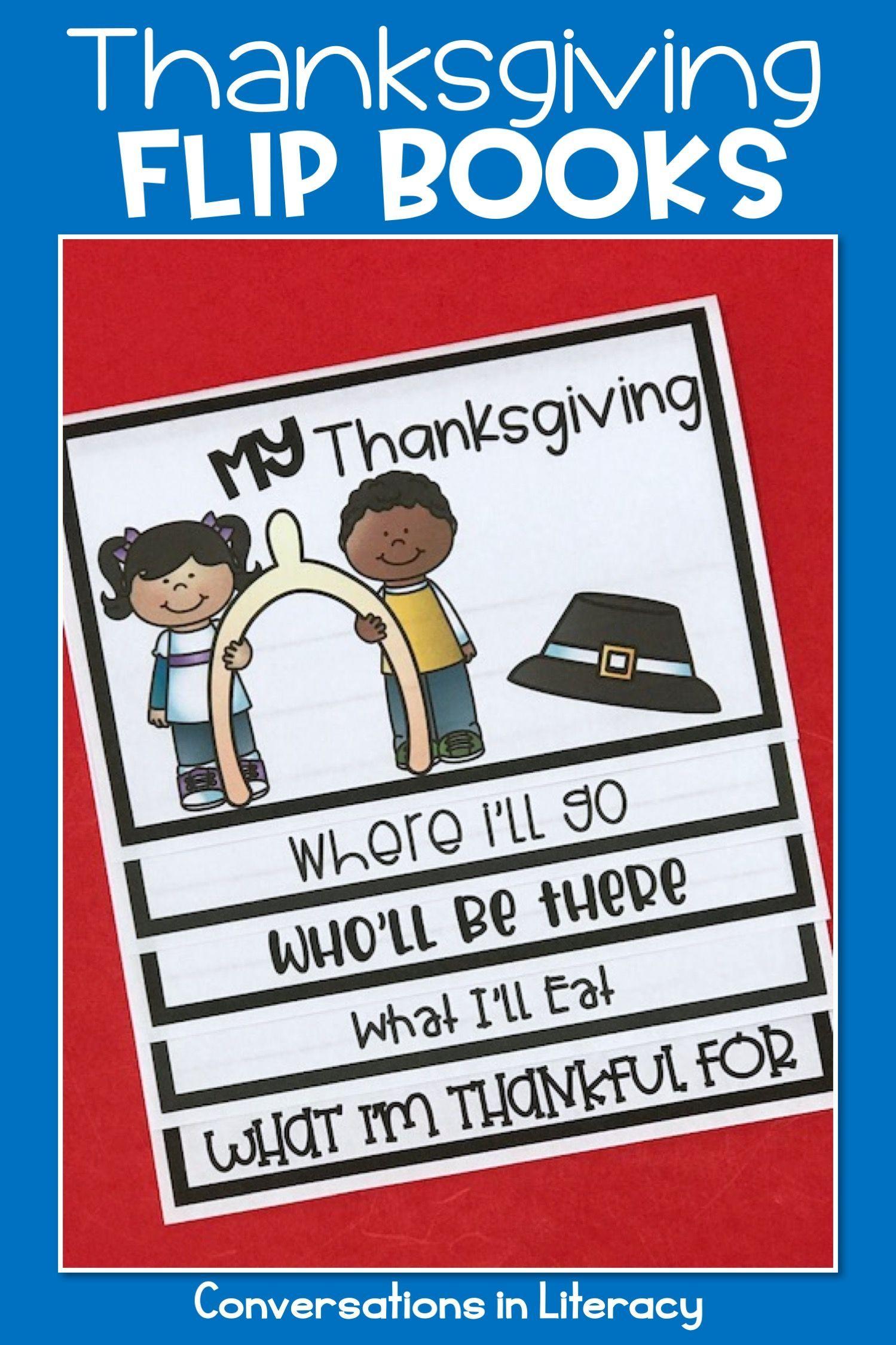 Thanksgiving Activities Writing Flip Books
