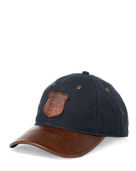 707d00e7c Waxed Cotton Baseball Cap - Polo Ralph Lauren Hats - RalphLauren.com ...