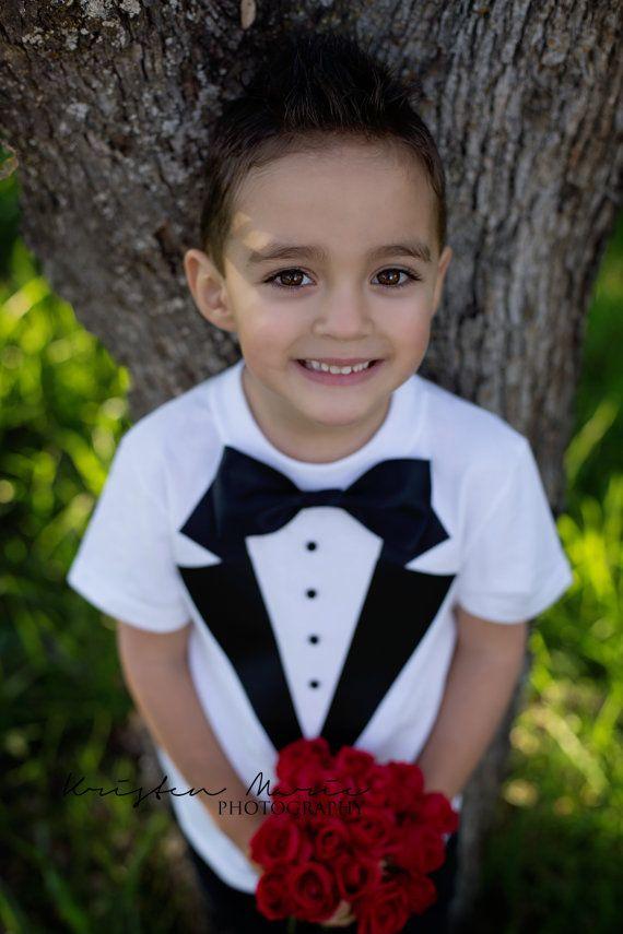 Boys Tuxedo T Shirt Toddler Tux Wedding Ring by JoysLilTuxes ...