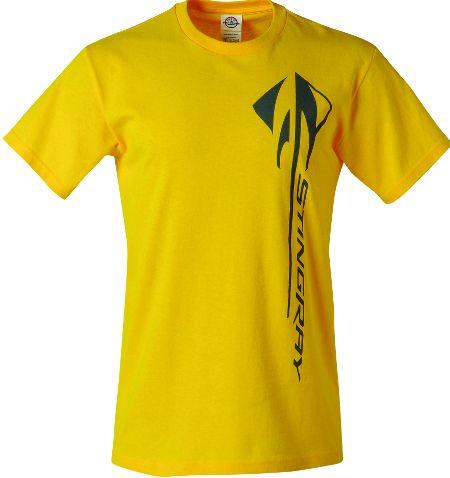 C7 Stingray Corvette Vertical Yellow T Shirt Chevymall