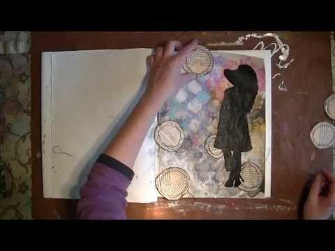 Artjournaling à la Dina Wakley (ENGLISH) - YouTube