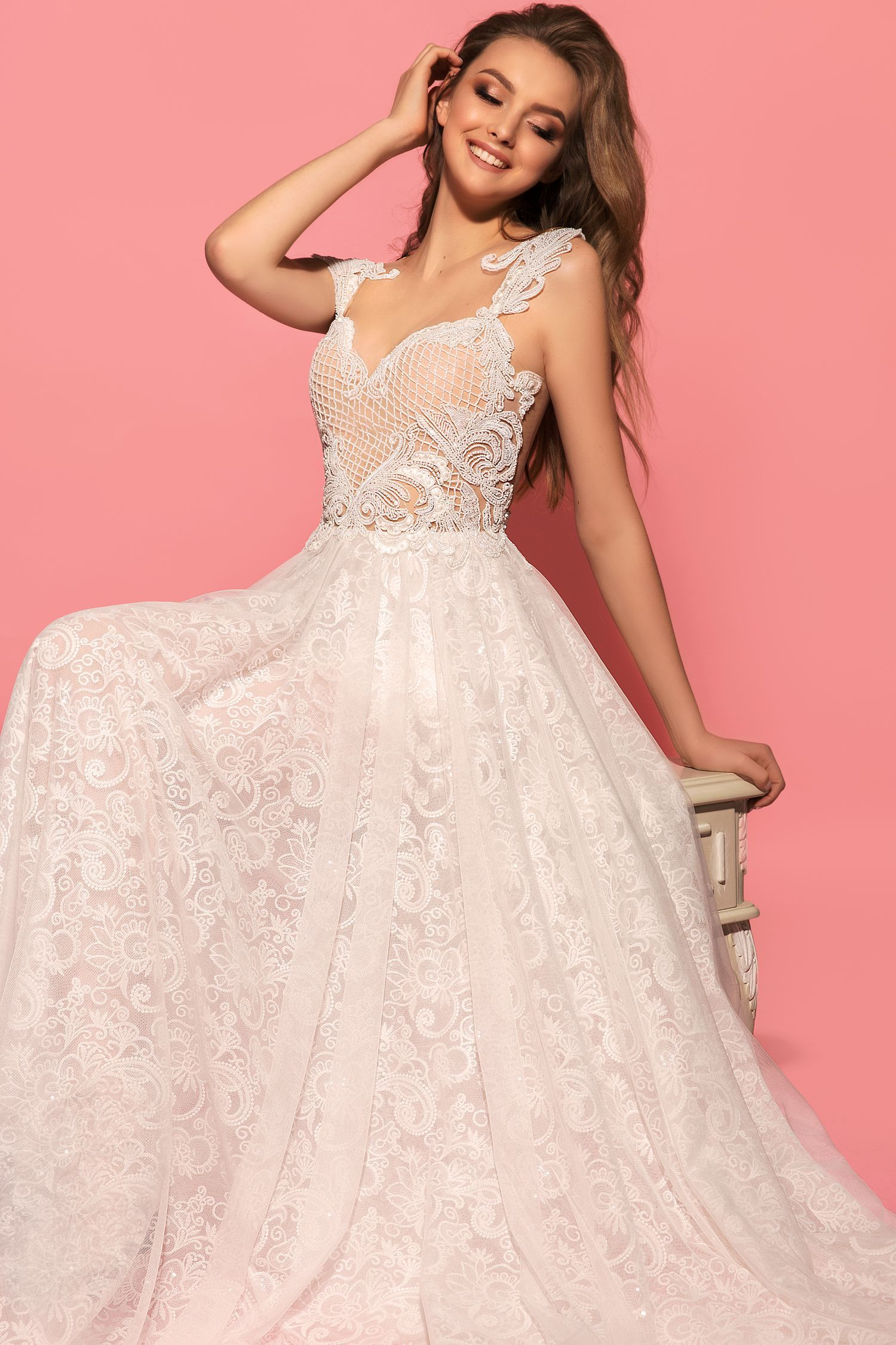 Asombroso Vestido De Novia De Stephen Yearick Elaboración ...