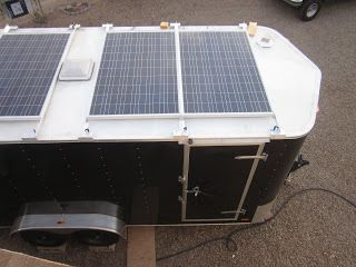 Stealth Camper Trailer Conversion Solar System 4 24 Volt 235 Watt Mx Solar P Enclosed Trailer Camper Cargo Trailer Camper Conversion Cargo Trailer Conversion