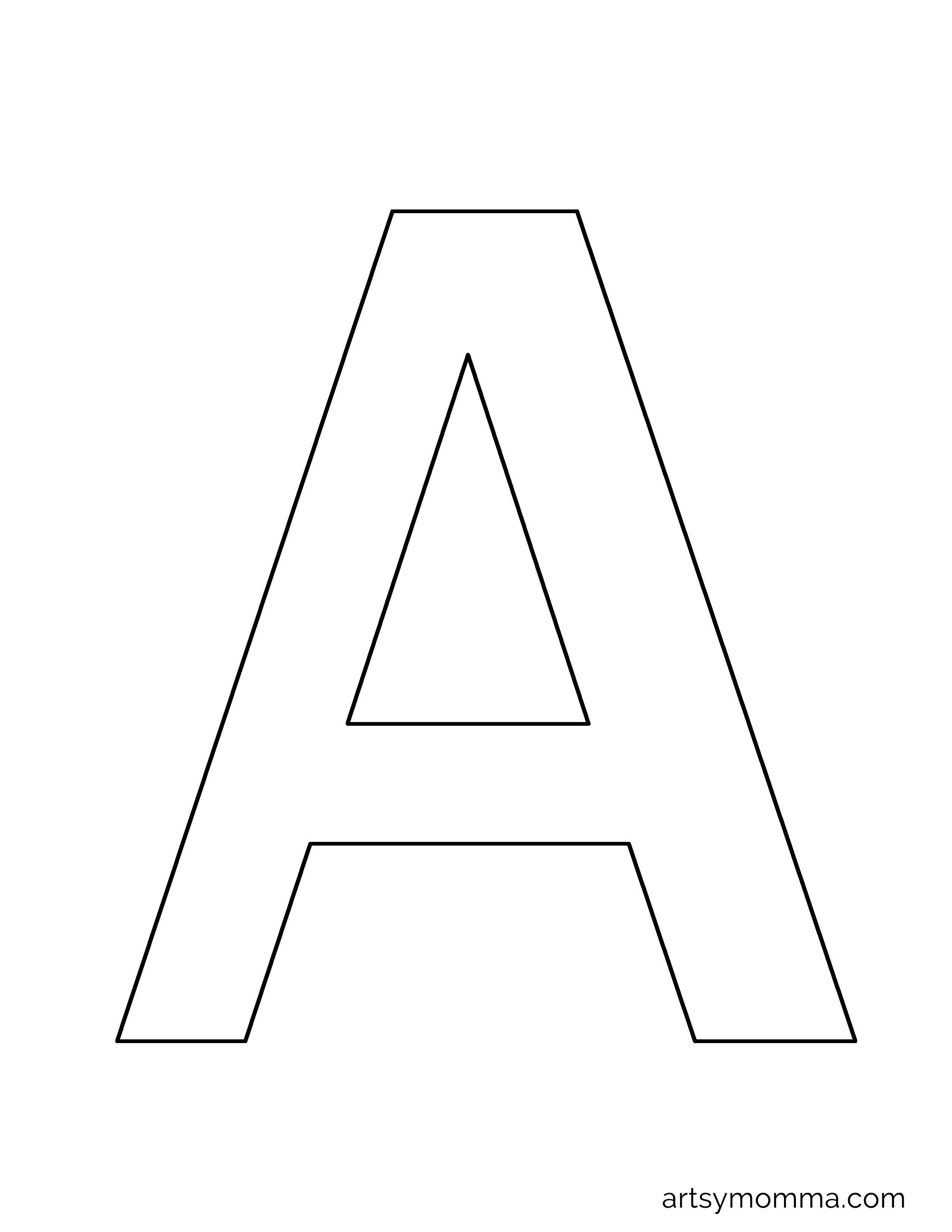 Free Printable Letter A