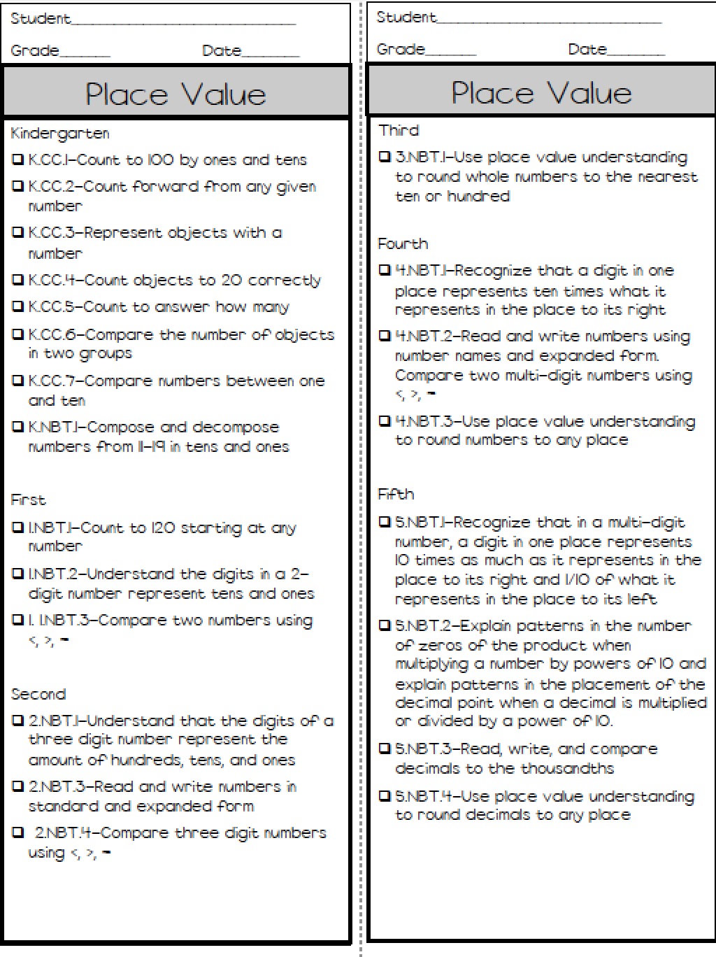 K-5 Math Assessments (Ashleigh\'s Education Journey) | Math, Math ...