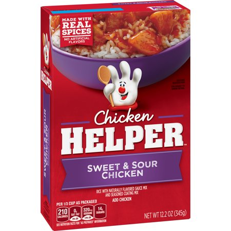 Chicken Helper Sweet Sour Chicken With Rice And Sauce Mix 12 2 Oz Walmart Com Sweet Sour Chicken Sweet N Sour Chicken Stuffed Peppers