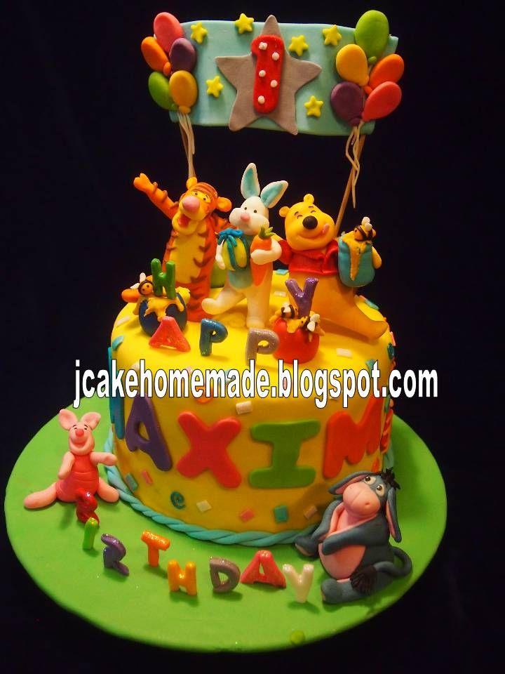 Winnie the Pooh and friends birthday cake.