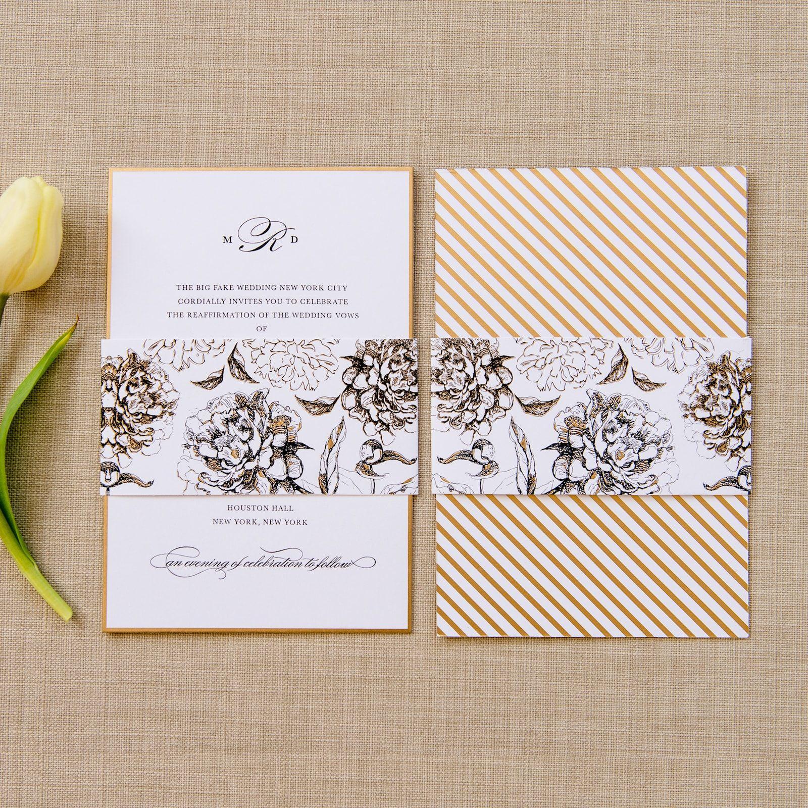 Meg wedding invitation 招待状