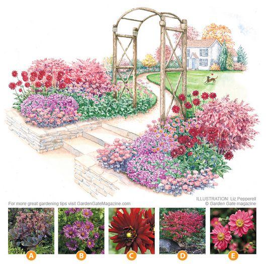 Flowery Fall Garden Flower Garden Plans Garden Planning Autumn Garden