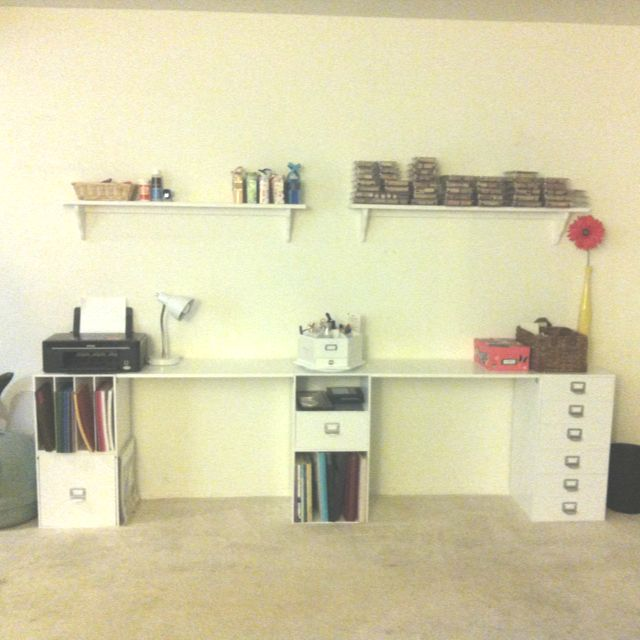 Stackable Cubes By Recollections (from Michaels). Build Your Own Craft Desk!  I