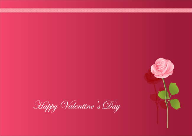 Download This Elegant Valentine S Day Card Write Your Own Wishes And Send To Your Valentines Day Card Templates Valentines Card Design Valentine Card Template