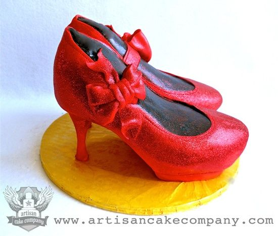 ebb7a8c235f5 ruby slippers cake by ArtisanCakeCompany