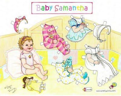 Baby Samantha paper doll