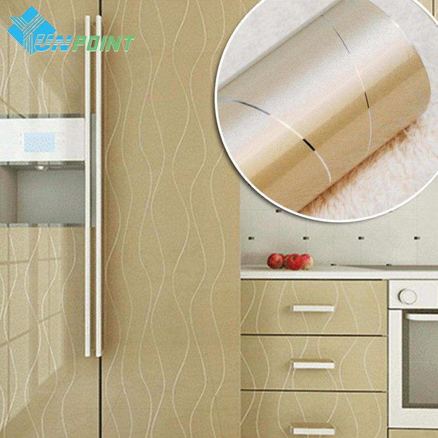 60cmX3m Golden Paint Silver Lines PVC Decorative Stickers Heat ...