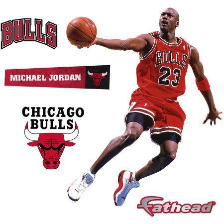 Fathead Michael Jordan Scoring Teammate Player, Multicolor