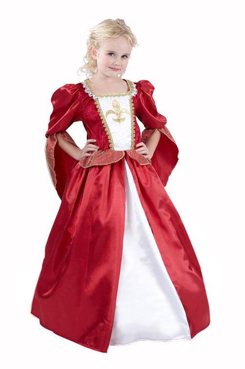 a1b9818f57f Déguisement princesse médiévale fille   Ce déguisement de reine médiévale  pour fille se compose d une longue robe et d un jupon (cerceau non inclus).