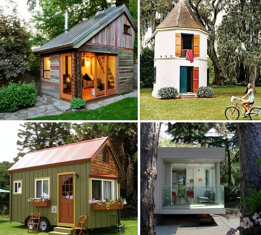 small cabins tiny houses the small house movement tiny houses pinterest smallest house. Black Bedroom Furniture Sets. Home Design Ideas