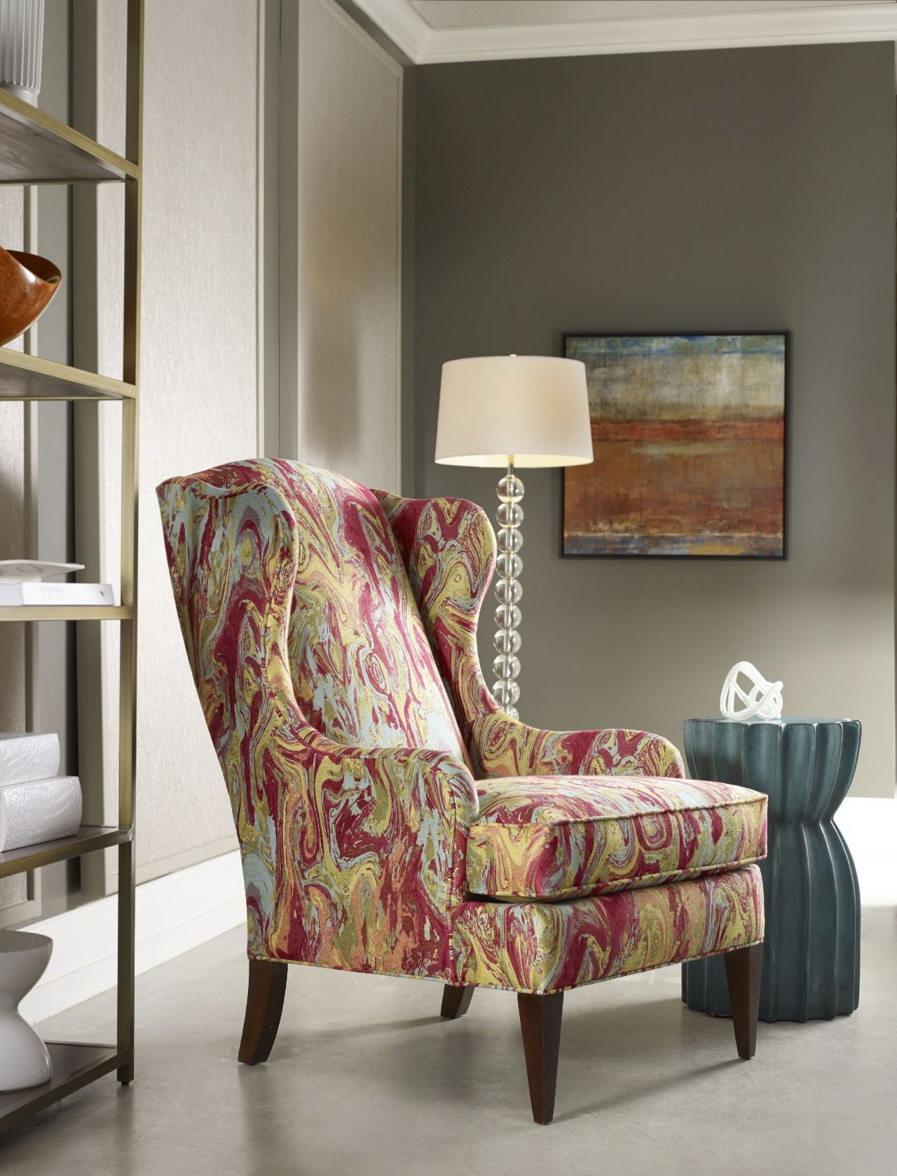 Sam Moore Furniture Wing Chair Captivation Sofas Accent Chairs