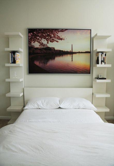 Un cabezal con almacenaje para espacios pequeños Espacios pequeños - decoracion de espacios pequeos