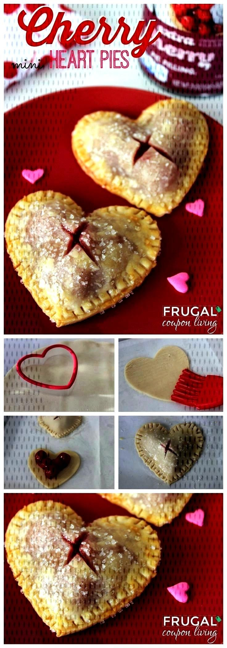 Cherry Heart Pies Valentines Dessert. Valentine's Day Mini Heart Cherry Pies on Frugal Coupon Li