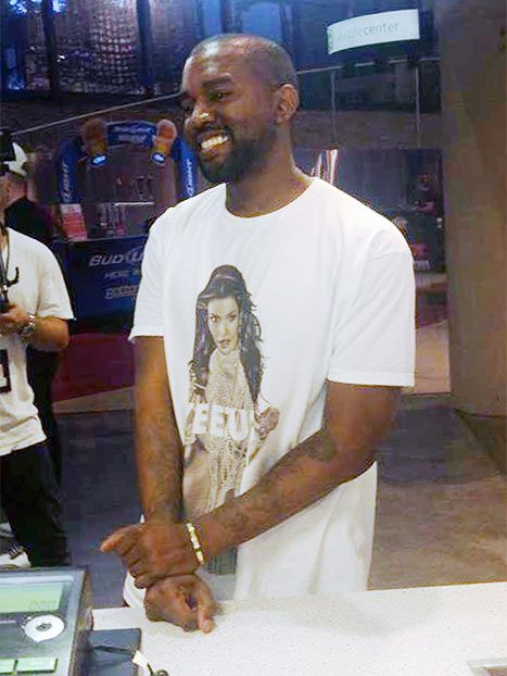 Kanye West Wears Kim Kardashian T-Shirt Before Seattle Show: Picture - Us Weekly <--- Seriously?