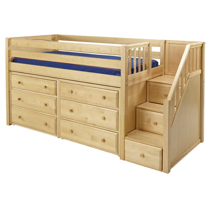 Best Great Low Loft Bed With Dressers And Staircase 400 x 300