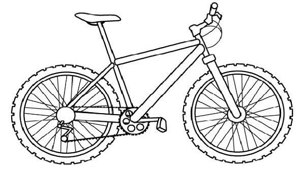 Bicycle Coloring Pages Preschool Bike Coloring Pages Mountain