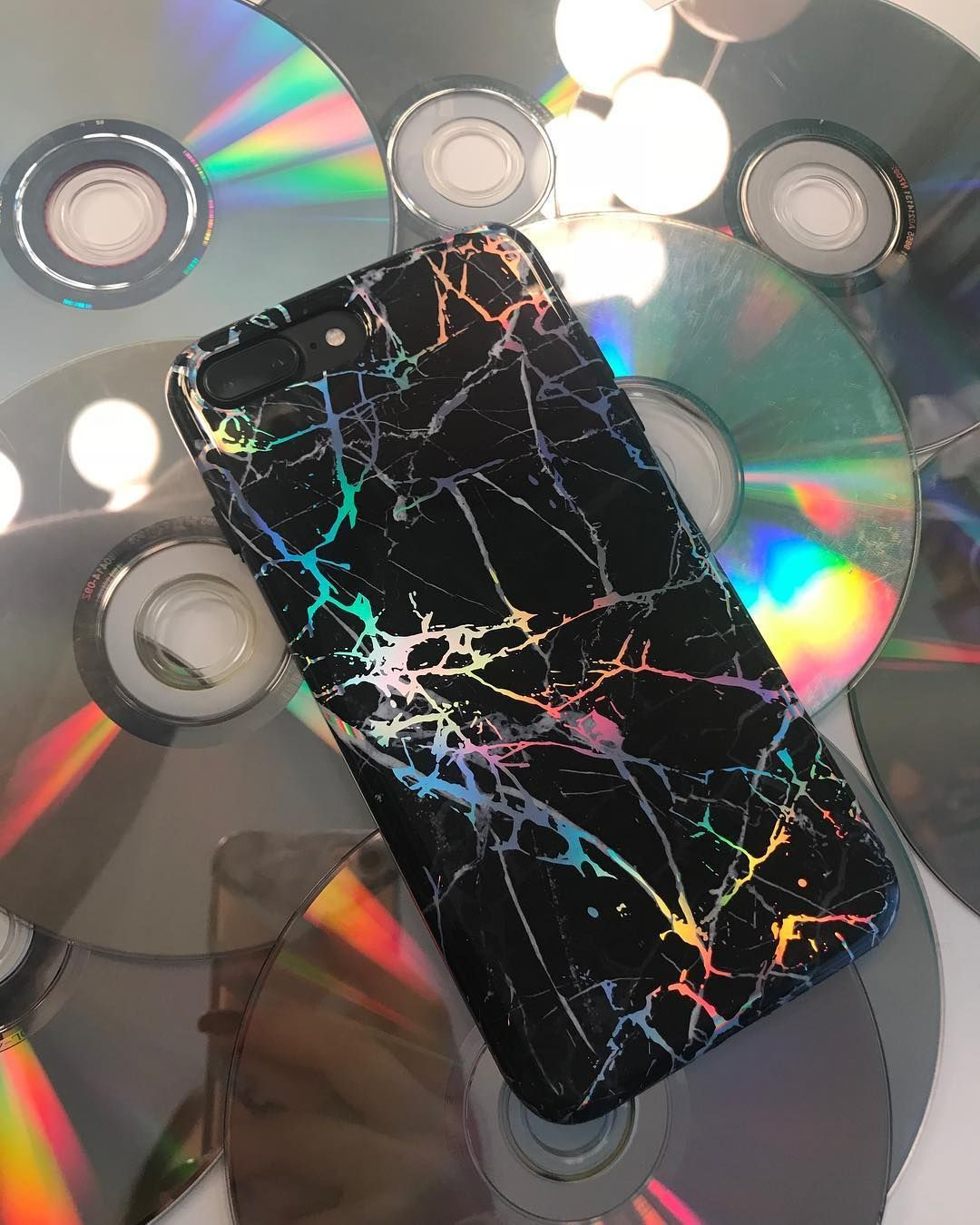 Holo Black Marble iPhone Case Black Iphone 6 Case