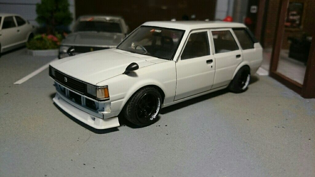 1 24 Scale Toyota Corolla Van Lowered Stance Jdm Scale Model