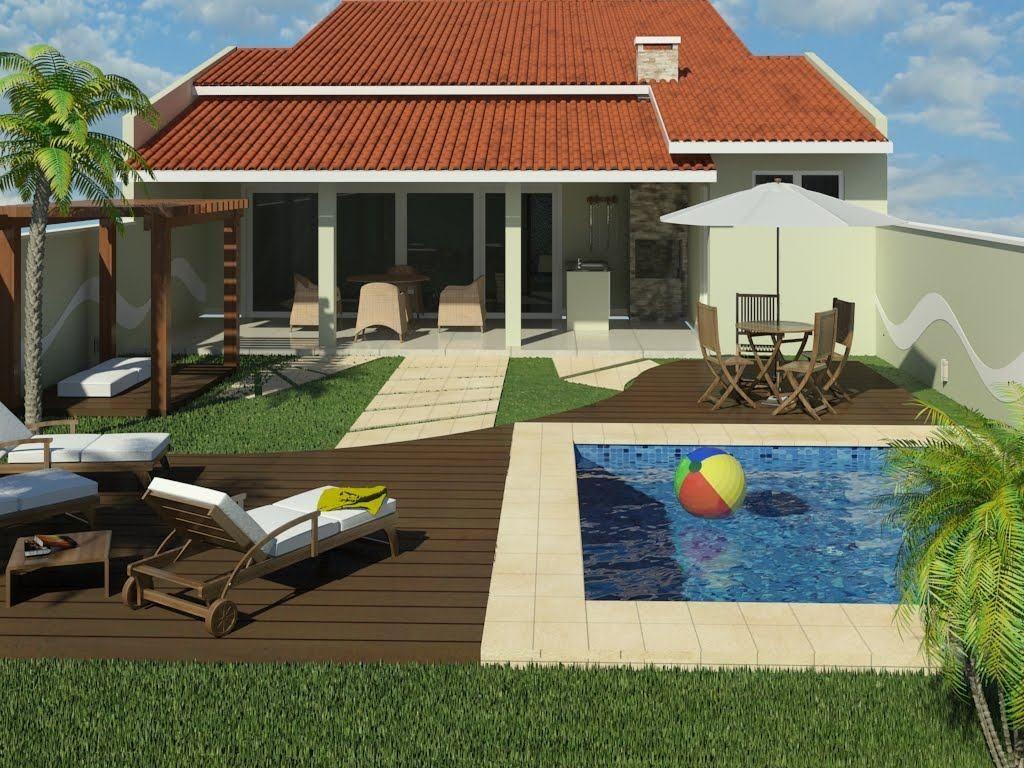 Casas com piscinas 60 modelos projetos e fotos casa for Piscinas fotos modelos