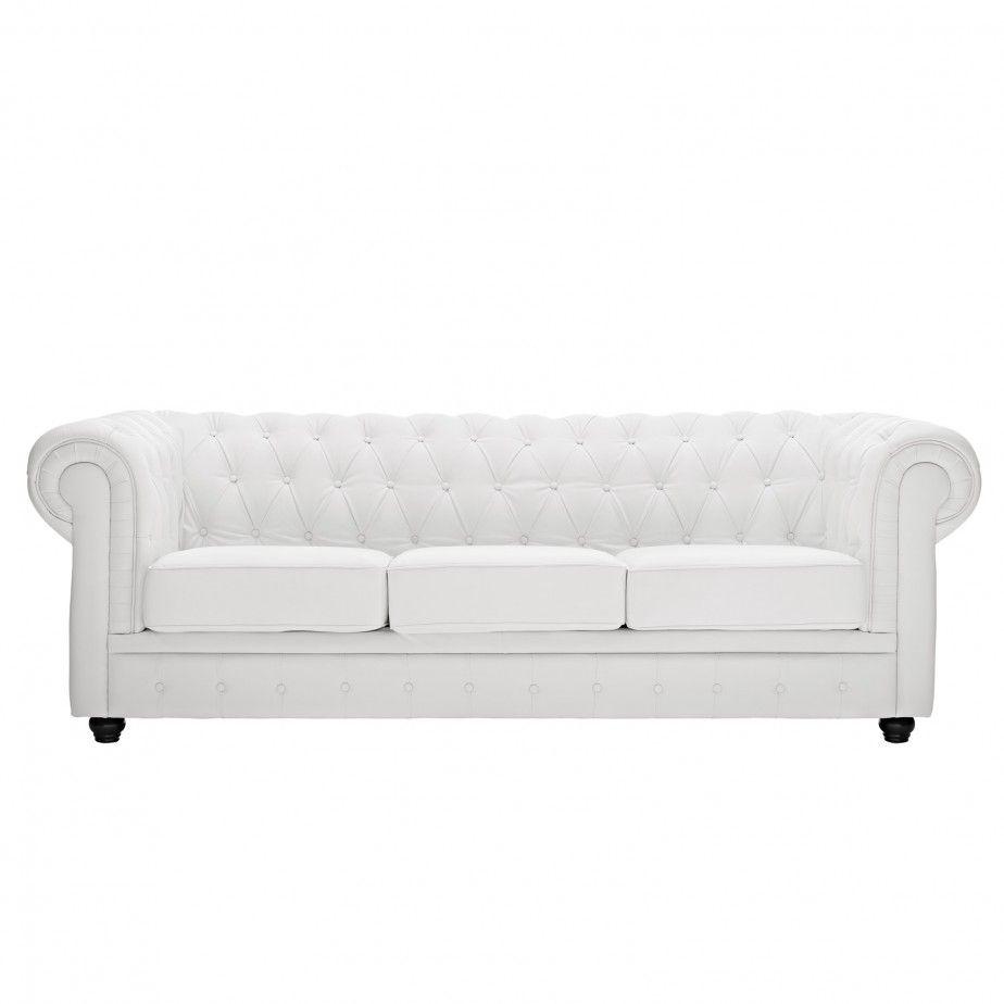 Tufted Leather Apartment Sofa